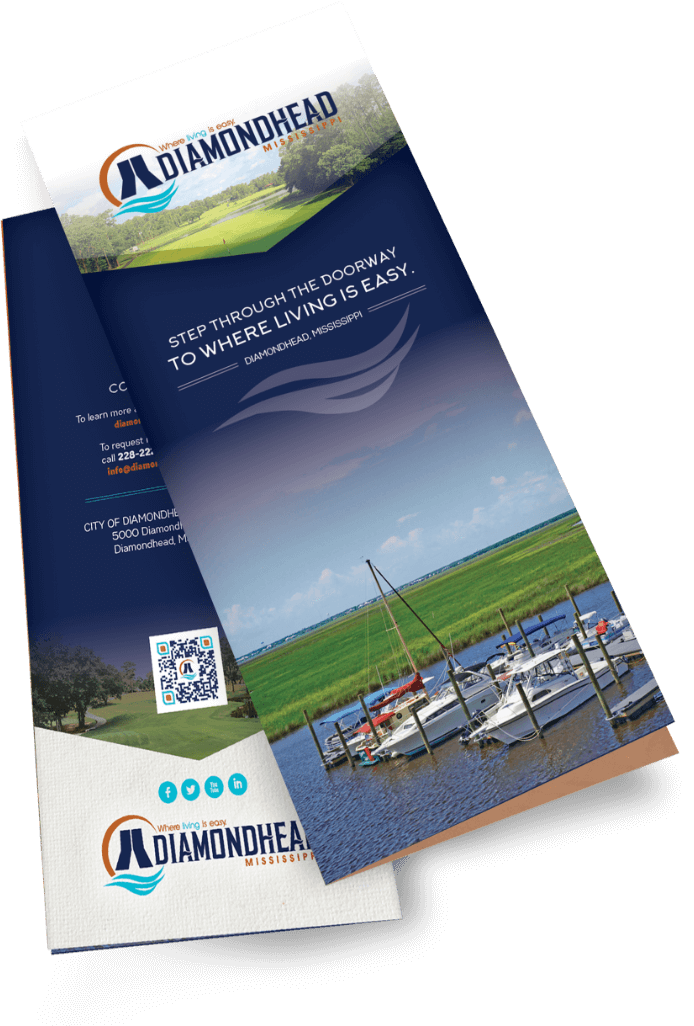 Folded Diamondhead Brochure | City of Diamondhead where Living is Easy in Mississippi