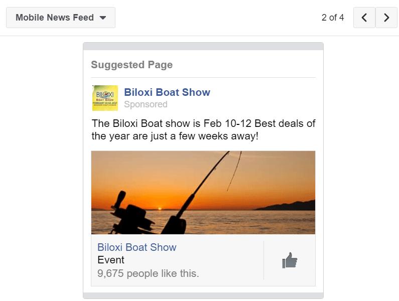 Biloxi Boat Show Mobile Ad