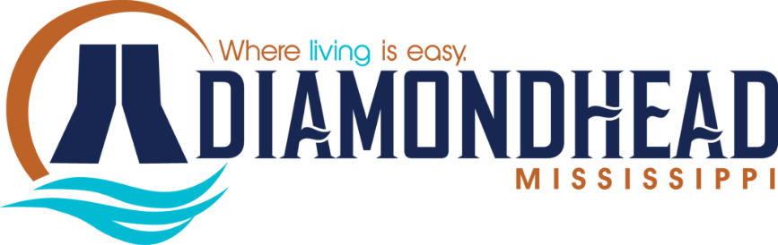 City of Diamondhead Logo | Where Living is Easy in Mississippi