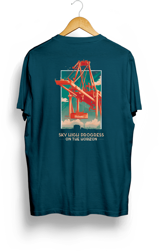 Back of Port of Gulfport Gantry Crane Shirt