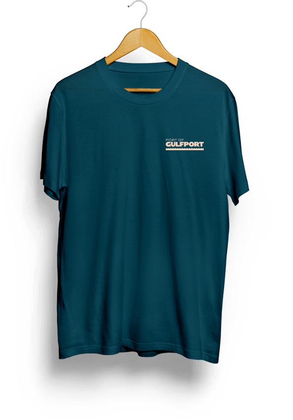 Front of Port of Gulfport Gantry Crane Shirt