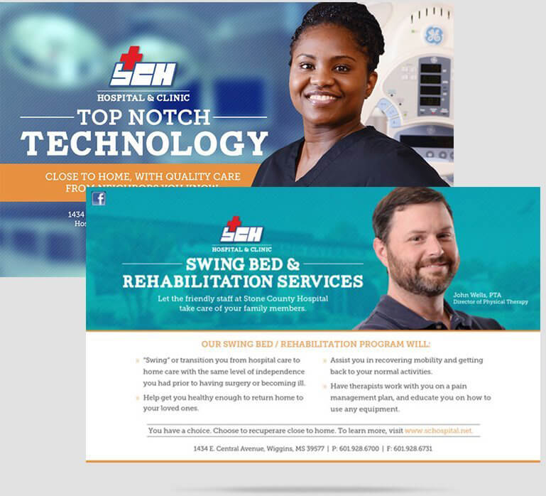 Stone County Hospital Digital and Print Ads