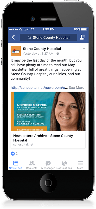 Stone County Hospital Mobile Facebook Feed