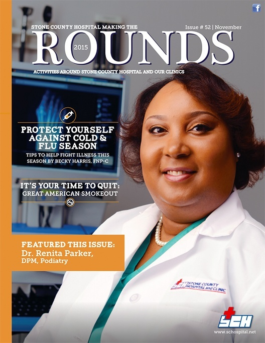 Stone County Hospital newsletter after redesign