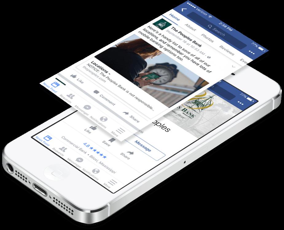 The Peoples Bank Digital Facebook on iPhone
