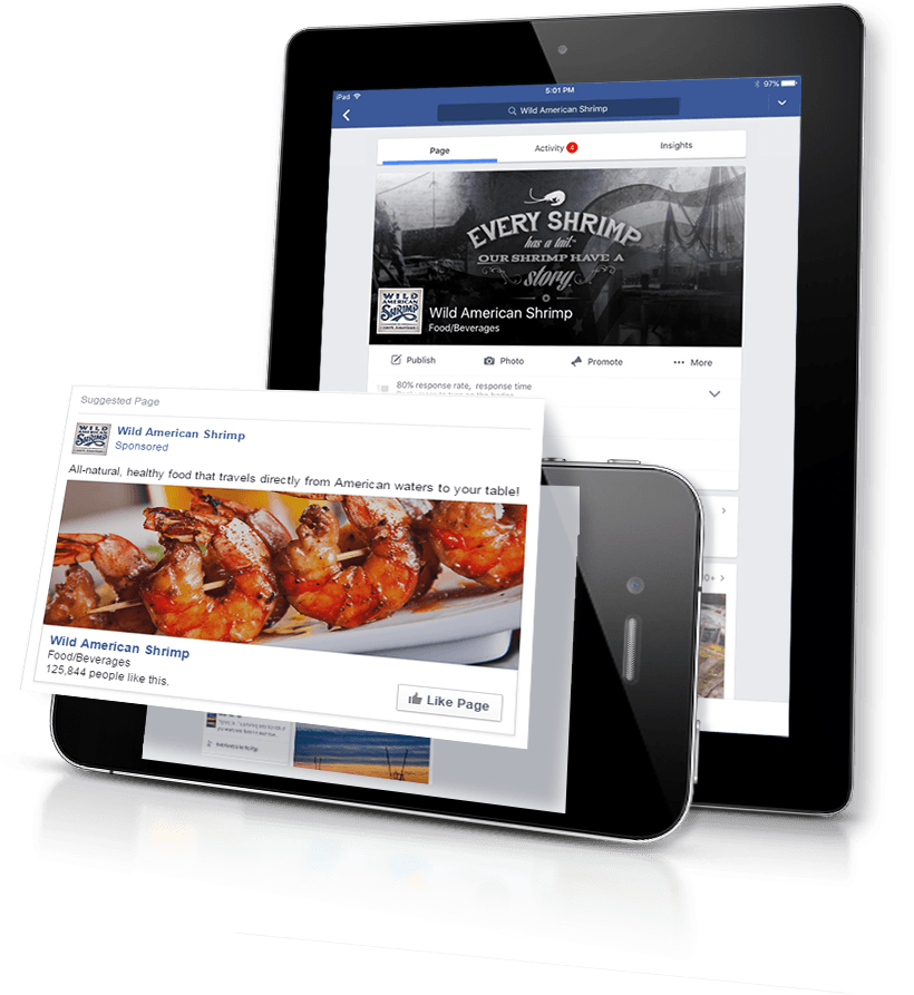 Wild American Shrimp digital marketing and social media