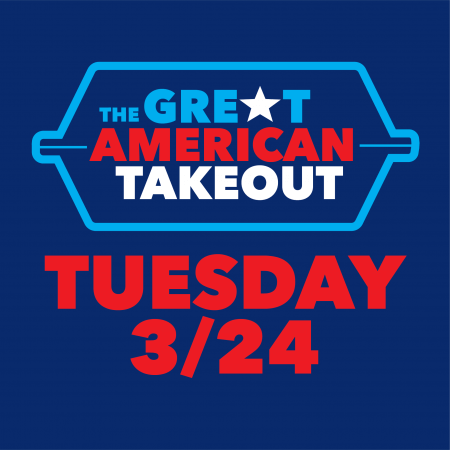 Tomorrow -- March 24th -- is The Great American Takeout Day!