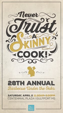28th Annual BBQ Under the Oaks Poster