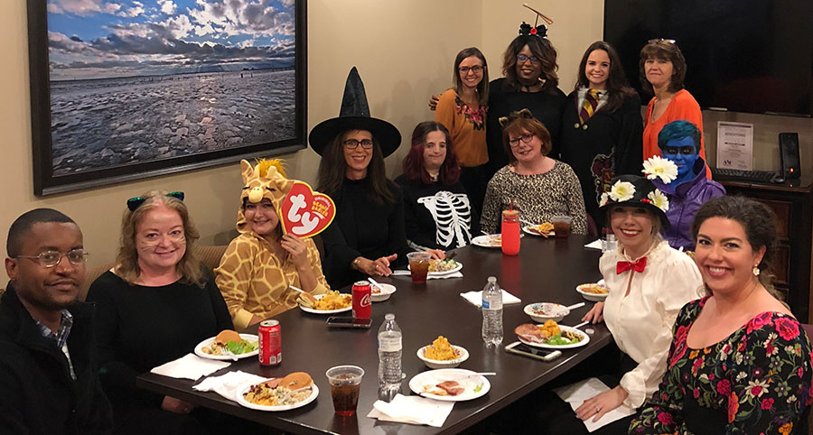 Focus Group potluck Halloween Lunch